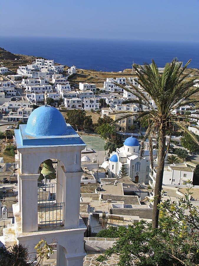 Ansicht der Insel von IOS in Cycladen, lizenzfreie stockbilder