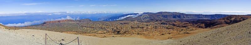 Ansicht der Insel von Teneriffa 3.000 Kilometer lang stockfotografie