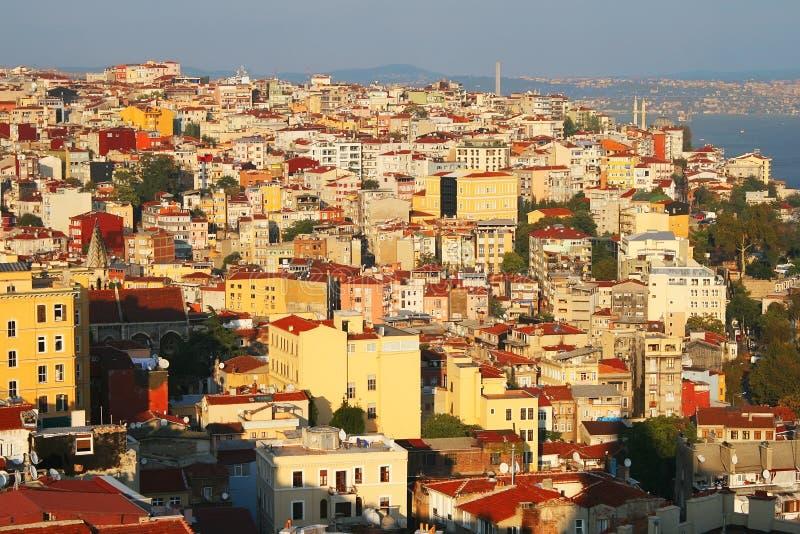 Ansicht der Istanbul-Stadt, die Türkei lizenzfreies stockfoto