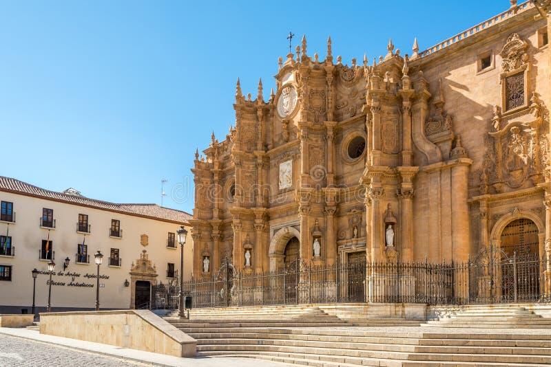 Ansicht in der Kathedrale von Guadix in Spanien lizenzfreie stockfotografie
