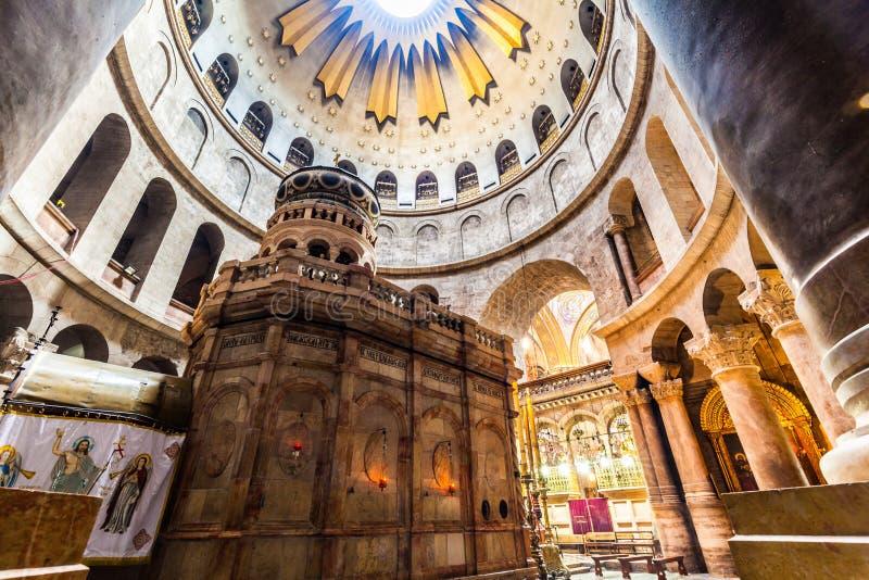 Ansicht der Kirche des heiligen Grabes lizenzfreie stockfotos
