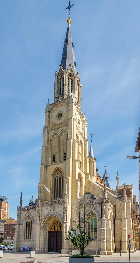 Ansicht an der Kirche unserer Dame in Sint Truiden - Belgien lizenzfreies stockbild