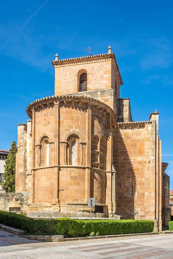 Ansicht an der Kirche von San Juan de Rabanera in Soria - Spanien stockbilder