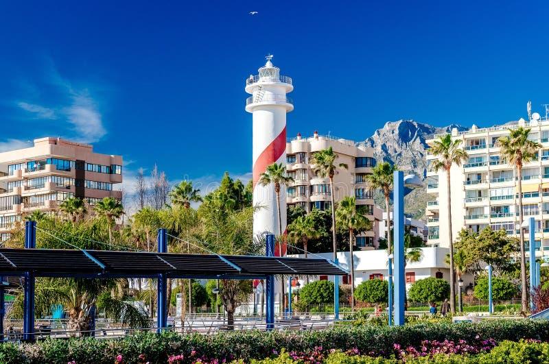 Ansicht der Marbella-Urlaubsstadt lizenzfreies stockfoto