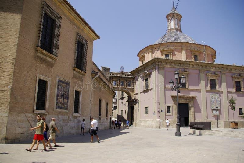 Ansicht der Mitte von Valencia, Spanien lizenzfreie stockbilder