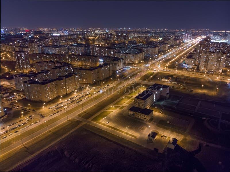 Ansicht der Nacht Minsk, Wei?russland stockfotos