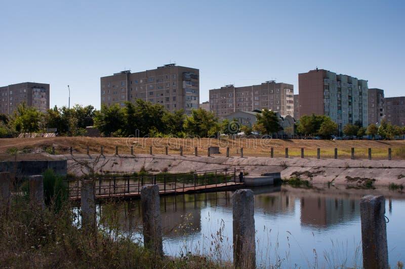 Ansicht der neuen Stadt lizenzfreies stockbild