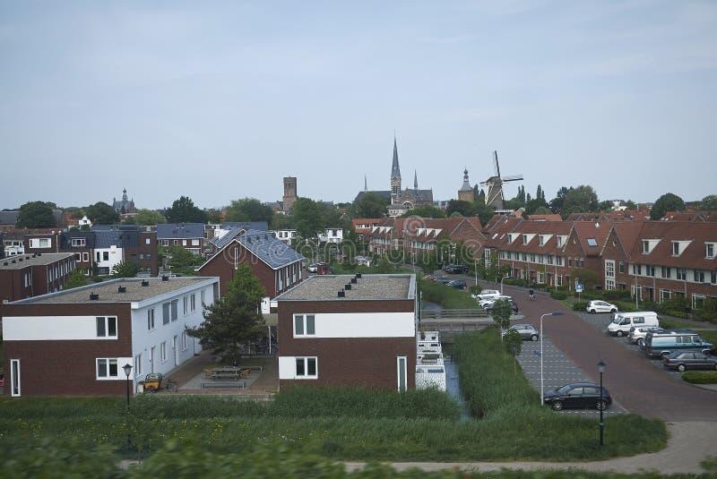 Ansicht der niederländischen Landschaft lizenzfreie stockfotografie