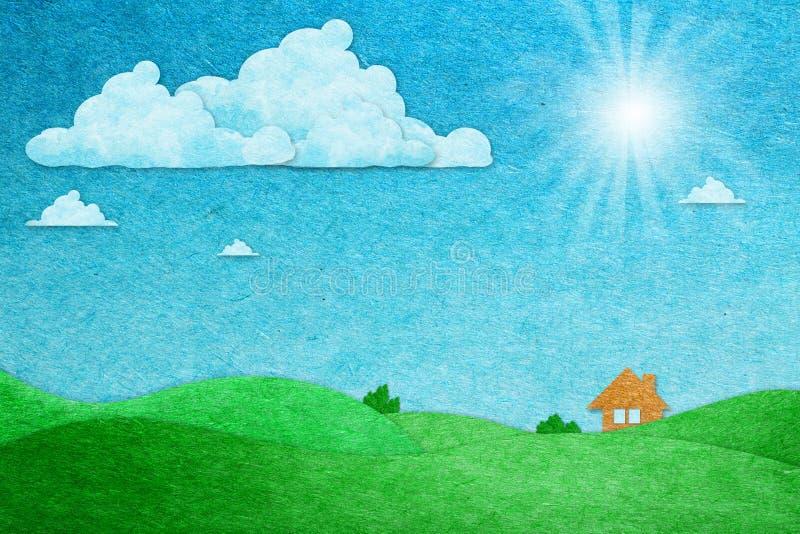 Download Ansicht Der Papierfertigkeit Sonniger Tages Stockbild - Bild von grün, notizblock: 27733219