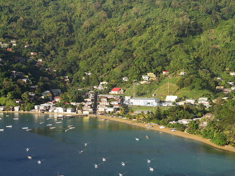 Charlotteville und Prates Bucht, Tobago stockfotografie