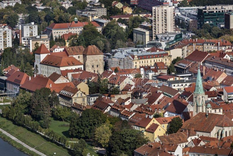 Ansicht der Stadt Celje stockbild