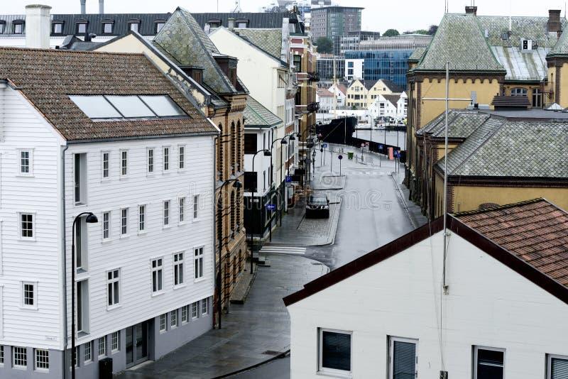 Ansicht der Stadt nach dem Regen stockfoto