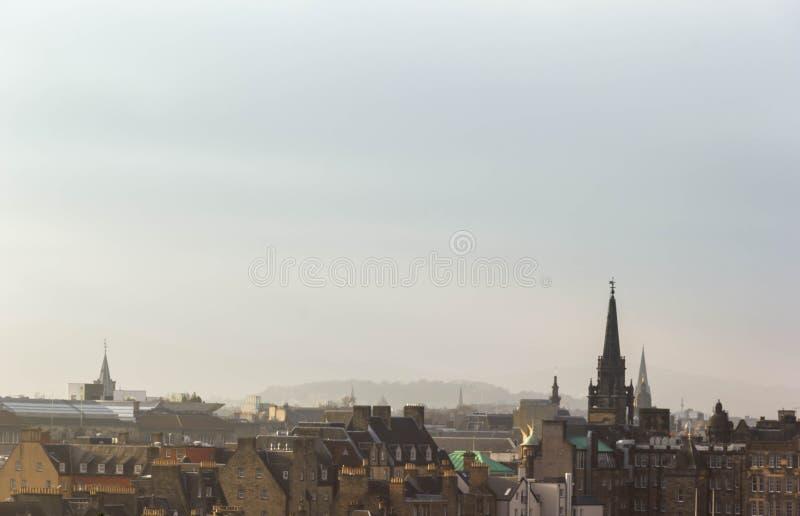 Ansicht der Stadt von Edinburgh stockbild