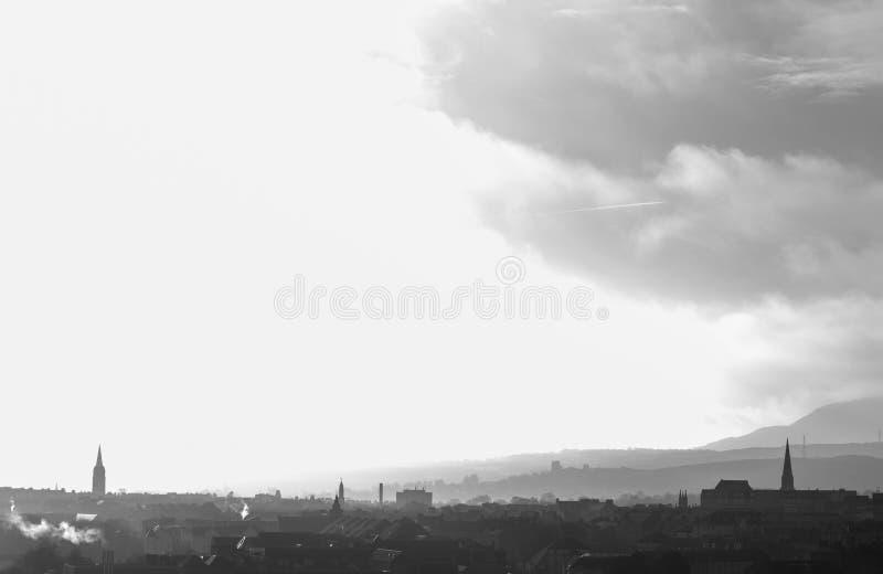 Ansicht der Stadt von Edinburgh stockfotografie