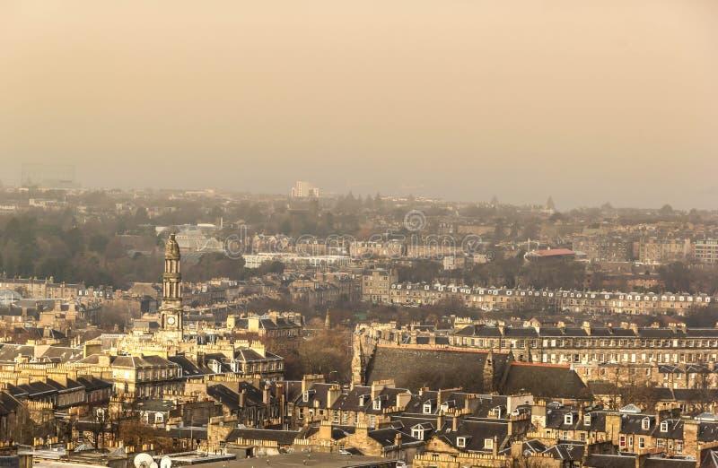 Ansicht der Stadt von Edinburgh stockfotos