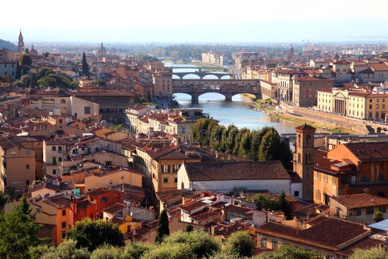 Ansicht der Stadt von Florenz stockfoto