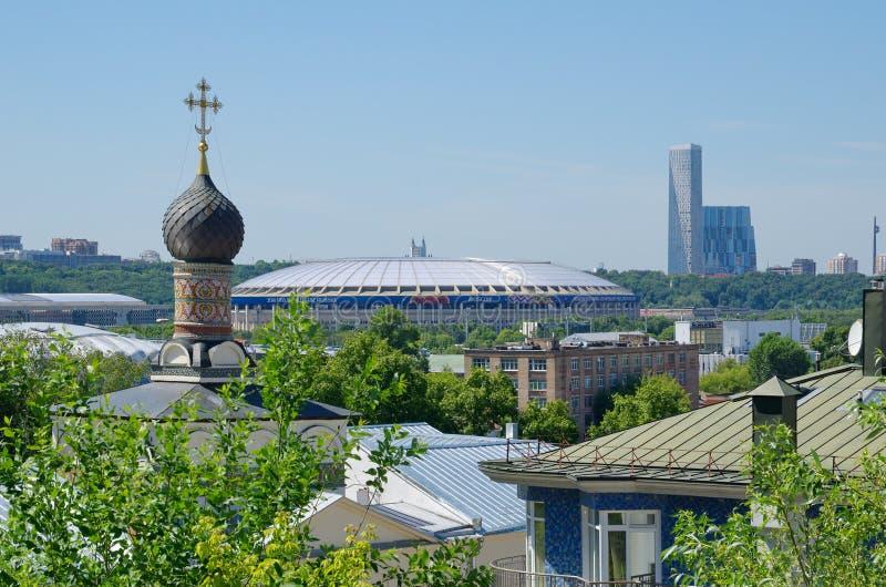 Ansicht der Stadt von Moskau an einem Sommertag, Russland stockfoto