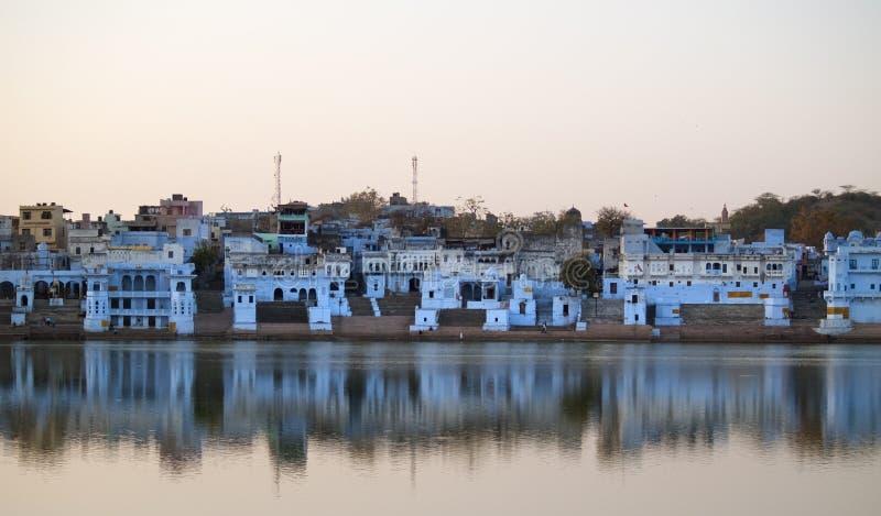 Ansicht der Stadt von Pushkar