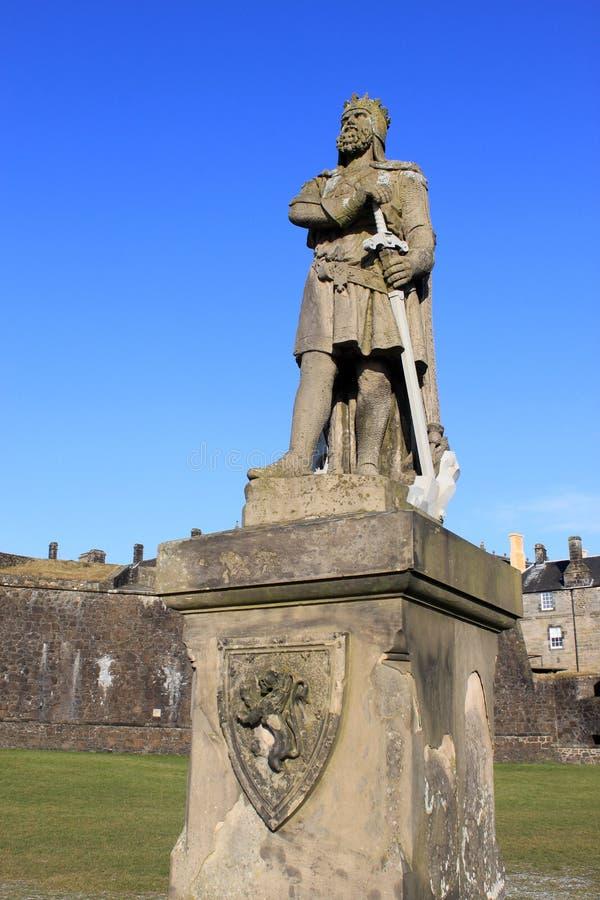 König Robert Der Bruce Außerhalb Stirlings Schlosses