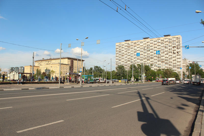 Ansicht der Straße Boris Galushkina stockfotos