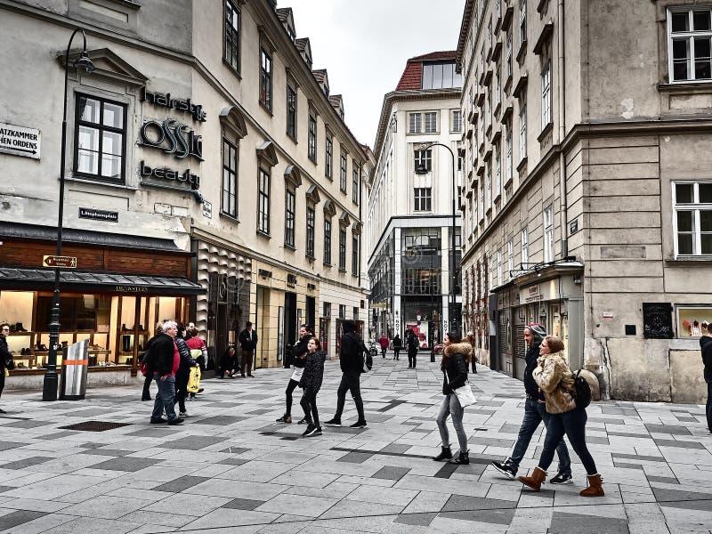 Ansicht der Straßen von Wien stockbilder