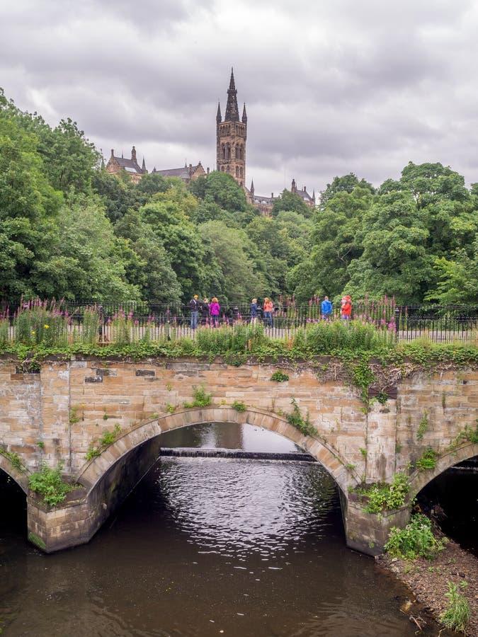 Ansicht der Universität von Glasgow stockbilder