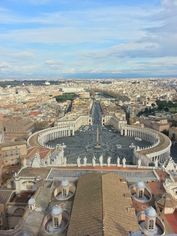 Ansicht der Vatikan Europas Rom lizenzfreies stockfoto