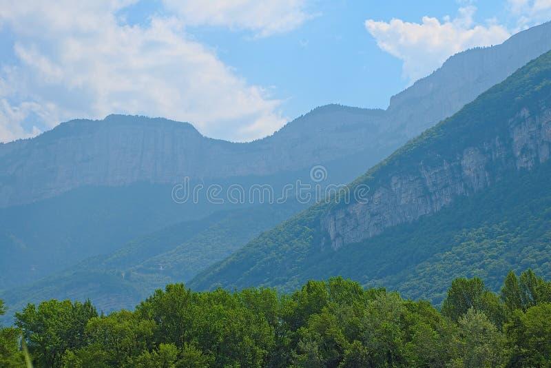 Ansicht der Vercors-Berge in den Alpen, Isère, Frankreich lizenzfreie stockbilder