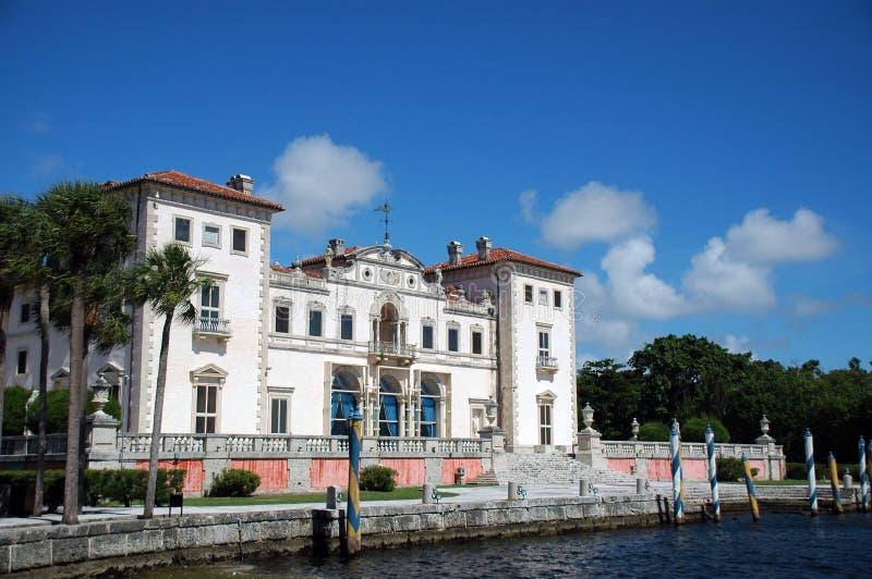 Ansicht der Vizcaya-Villa in Miami lizenzfreies stockbild