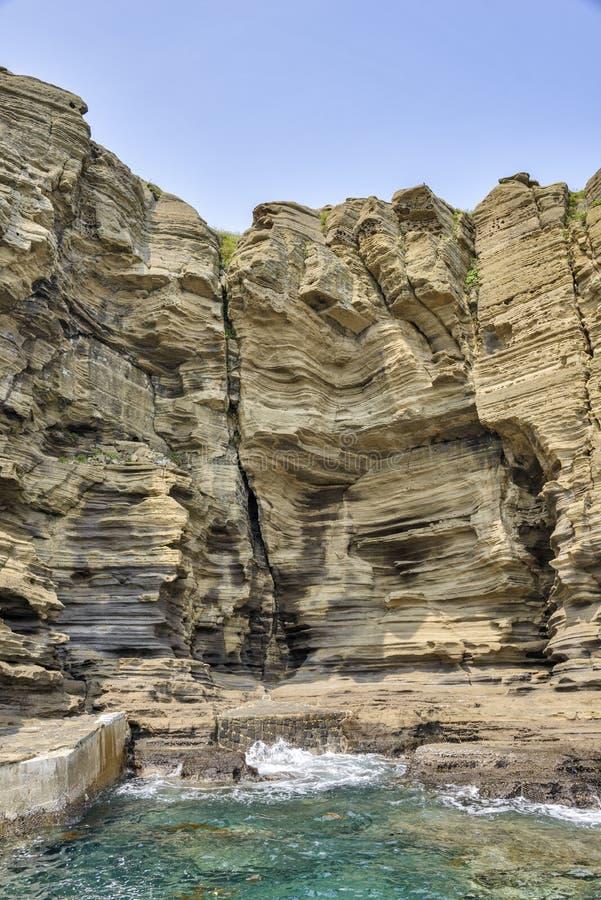 Ansicht der Yongmeori-Küste in Jeju-Insel lizenzfreie stockfotos