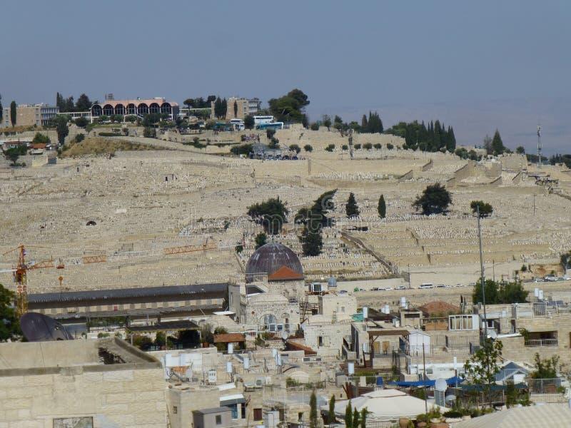 Ansicht des Ölbergs in Jerusalem lizenzfreie stockbilder