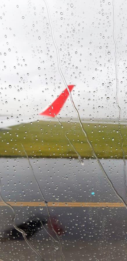 Ansicht des airplane' s-Fenster stockfotos