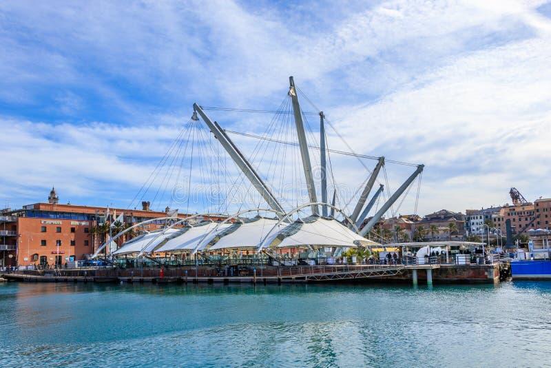 Ansicht des alten Hafenbereichs von Genua stockfoto