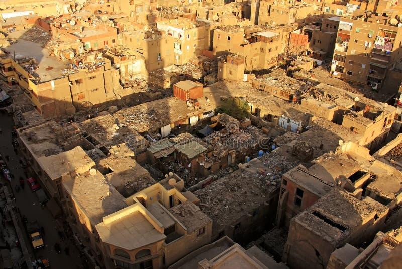 Ansicht des alten Kairo-Form Moscheenminaretts stockfotografie