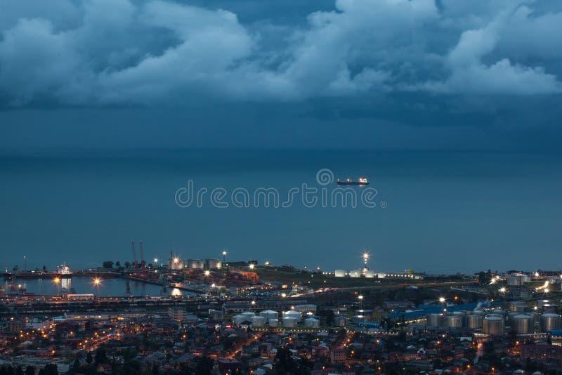 Ansicht des Batumi-Seehafens stockfotografie