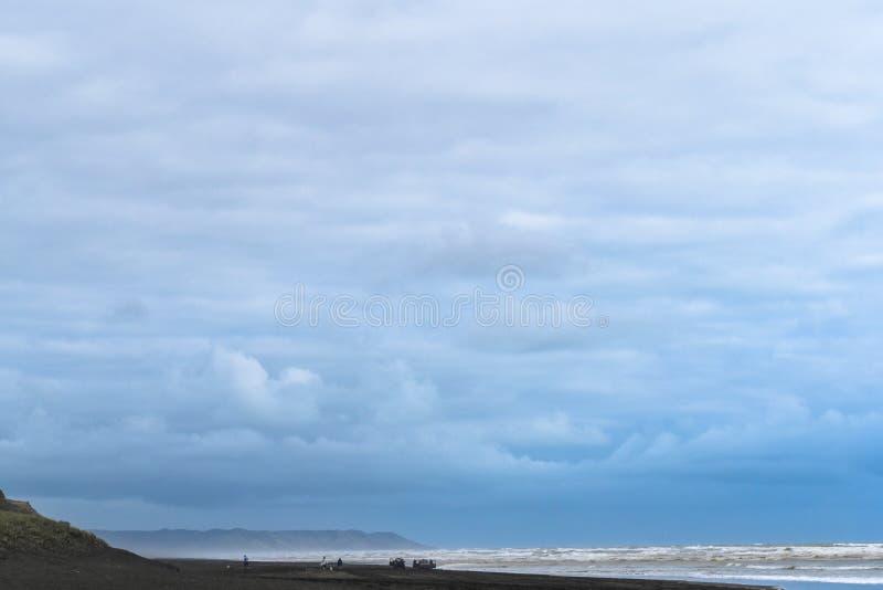 Ansicht des blauen Himmels und des Meeres stockfoto