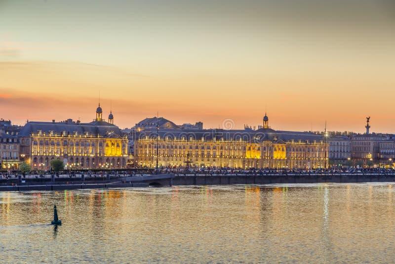 Ansicht des BordeauxStadtzentrums, Frankreich lizenzfreie stockfotografie