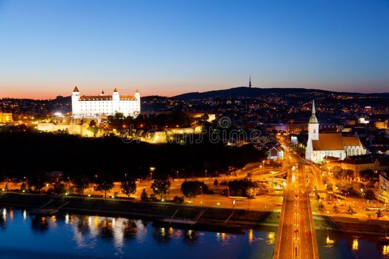 Ansicht des Bratislavas stockbild