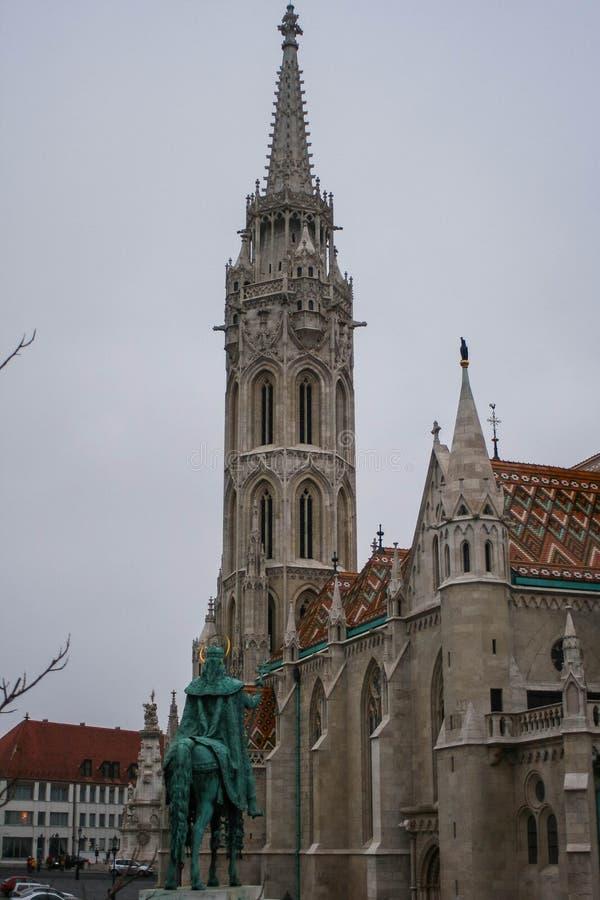 Ansicht des Budapest-Schlossturms zweitens stockbild