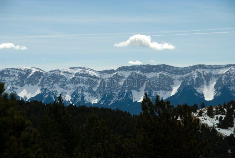 Ansicht des Cadigebirgszugs von Naturlandia stockfotografie