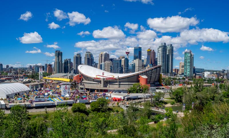 Ansicht des Calgary-Ansturms stockfoto
