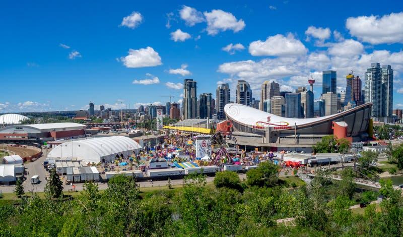 Ansicht des Calgary-Ansturms stockfotografie