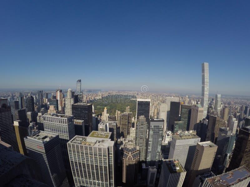 Ansicht des Central Park von Rockefeller-Mitte stockfoto