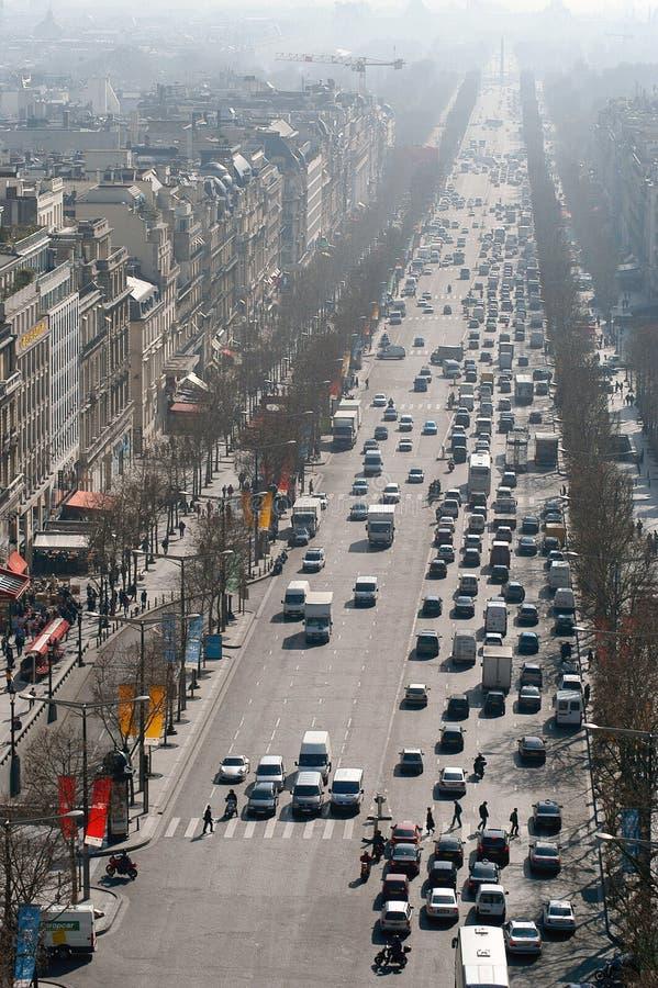 Ansicht des Champs Elysées lizenzfreies stockfoto