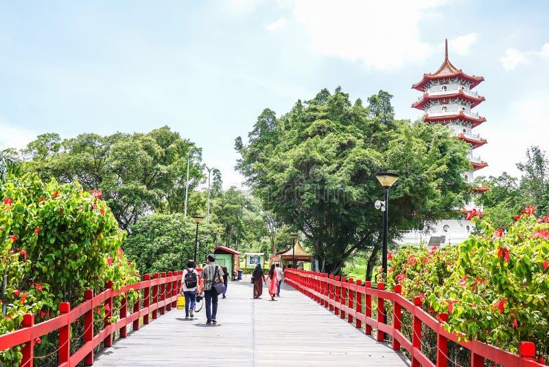 Ansicht des chinesischen Gartens Singapur, ein Park gelegen in Jurong-Osten, Singapur lizenzfreie stockfotos