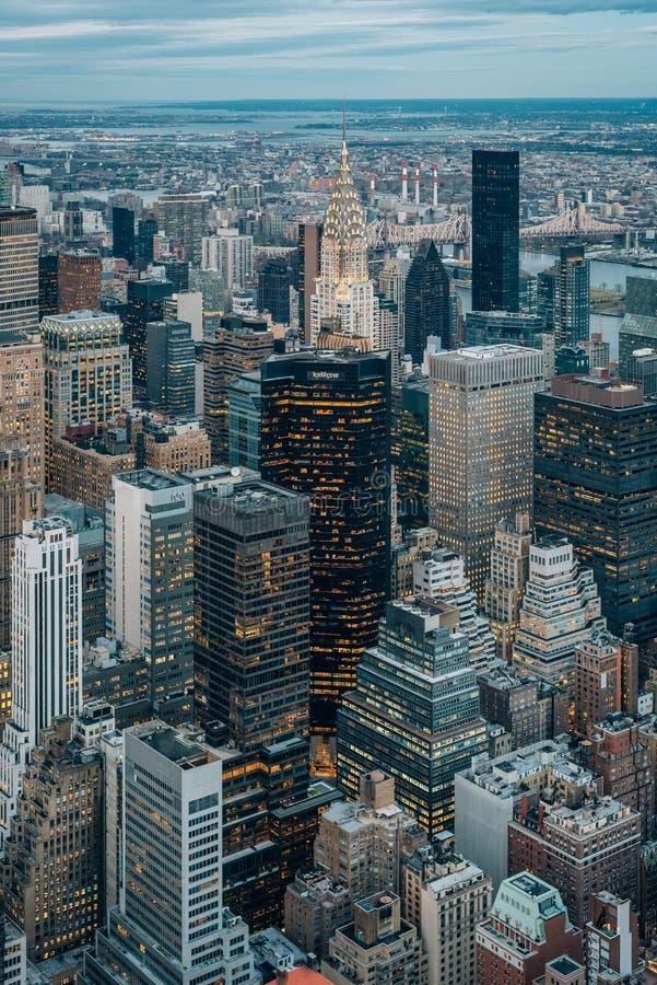 Ansicht des Chrysler-Gebäudes in Midtown Manhattan, New York City stockfoto
