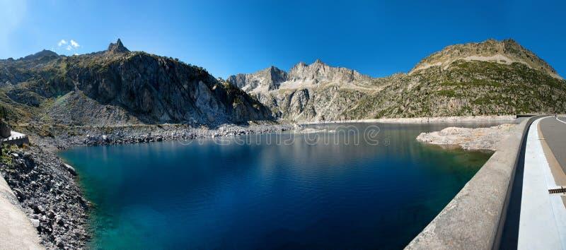 Ansicht des Dammes de Cap de lang, Franzosen Pyrenäen stockfotografie