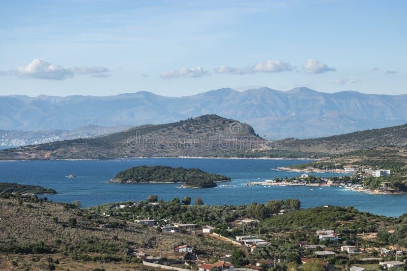 Ansicht des drei Insel-Strandes lizenzfreies stockbild