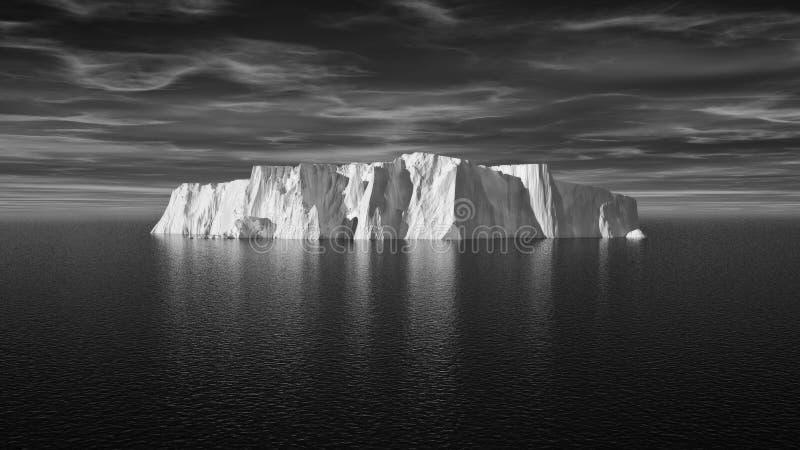 Ansicht des Eisbergs mit schönem transparentem Meer lizenzfreie stockfotos
