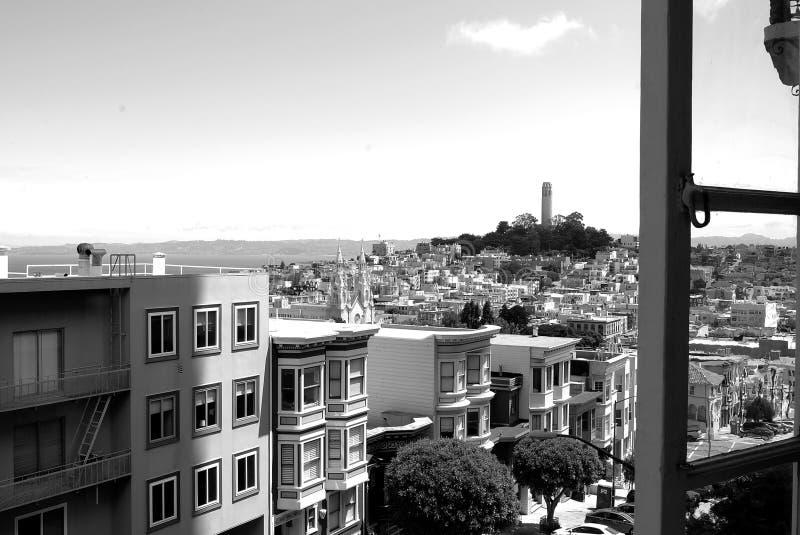 Ansicht des Fernschreiber-Hügels lizenzfreies stockfoto
